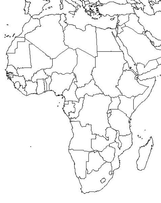 Print Blank Map Of Africa for Africa Physical Features Map Quiz